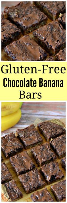 Gluten-Free Chocolate Banana Bars. Just because you can't have gluten doesn't mean you can't enjoy a tasty treat!!