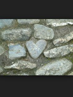 The heart of stone in the footpath at St. Micheal's Mount, Cornwall, England.