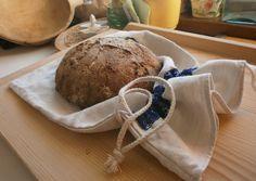 Ako sa šije vrecko na chlebík z domáceho ľanového plátna