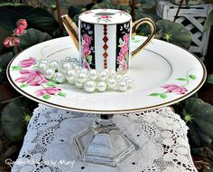 Mini Teapot Pedestal Whimsy / Jewelry by GardenWhimsiesByMary - $28