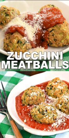 You'll love these meatless, easy, healthy, vegetarian Zucchini Meatballs for a delicious dinner! Serve them up with your favorite pasta sauce and noodles for a dinner your friends and family will love! meals for husband Zucchini Meatballs Tasty Vegetarian Recipes, Vegetarian Dinners, Healthy Dinner Recipes, Vegetarian Meatballs, Cooking Recipes, Keto Recipes, Healthy Meatballs, Healthy Zucchini Recipes, Shredded Zucchini Recipes