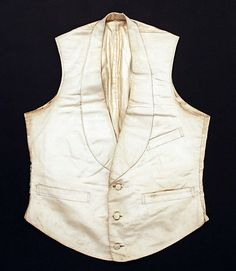 Waistcoat  Date: ca. 1840 Culture: American Medium: silk