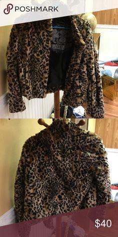 New Leopard Coat Took tags off, but never worn Jou Jou Jackets & Coats