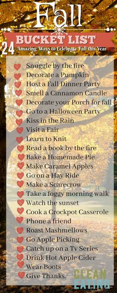 Fall Bucket List ~ special experiences for the season!