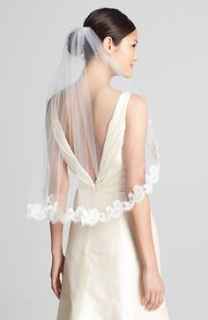 Wedding Belles New York 'Lola' Lace Border Veil available at #Nordstrom