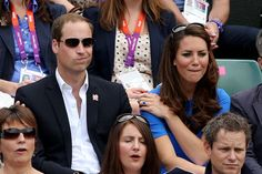 Kate and Will watching tennis at Wimbledon