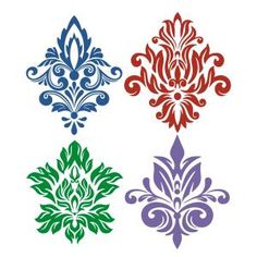 Damask Print SVG Cuttable Designs