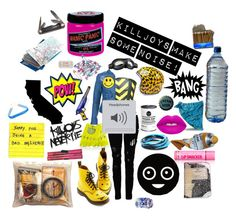 """Killjoy"" by causingpanicatthetheater ❤ liked on Polyvore featuring Religion Clothing, S.W.O.R.D., Eley Kishimoto, Dakine, Zone, Dr. Martens, Manic Panic, Lime Crime, Plane and Market"