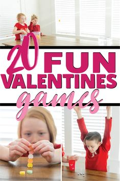 Kids and adults alike will love these conversation heart Valentines minute to win it games! They're easy to play, hilarious to watch, and inexpensive to setup! Perfect for Valentine's Day classroom parties, game nights, and family fun! Valentine's Day Party Games, Fun Games, Group Games, Party Time, Valentines Games, Valentines Day Party, Valentine Treats, Girls Birthday Games, Sunday School Games
