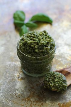 Classic Basil Pesto Sauce Recipe | TheRoastedRoot.net