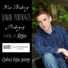 Beautiful and Affordable Senior Portraits. In studio and  on location sessions…