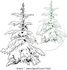 Google Image Result for http://images.clipartof.com/small/71223-Royalty-Free-RF-Clipart-Illustration-Of-An-Evergreen-Tree-Flocked-In-Snow-With-A-Black-And-White-Copy-Version-3.jpg