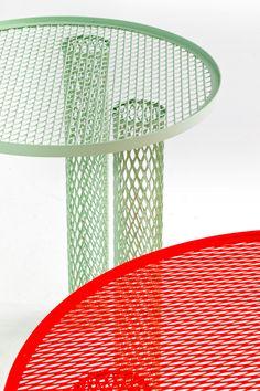 benjamin hubert: cradle lounge chair + net tables for moroso