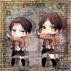 shingeki no kyojin,  Eren & Levi