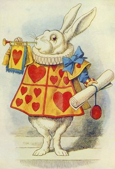 The White Rabbit, illustration from 'Alice in Wonderland' by Lewis Carroll by John Tenniel