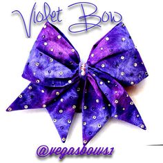 Violet Bow on Etsy, $35.00
