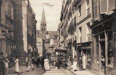 #photo Rue de Belleville au niveau de la rue des Fêtes #1900 #PEAV @Menilmuche @ParisHistorique