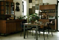 HOXTON(ホクストン) キッチンボード W1230 ウォールナット | ≪unico≫オンラインショップ:家具/インテリア/ソファ/ラグ等の販売。