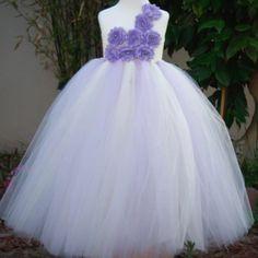 Luxurious PURPLE Dress-Floral Rose Gown TuTu Tulle Dress
