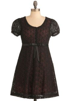 Dreams of You Dress in Black, #ModCloth    Titanic Dress with a twist