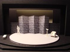 Set model for The Complete Works of William Shakespeare [Abridged] design by Eric Stone) Set Theatre, Drama Theatre, Theatre Design, Stage Design, Set Design, Design Model, Complete Works Of Shakespeare, Shakespeare In Love, William Shakespeare
