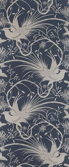 Shop - Imperial Pheasants: Blue | Annandale Wallpapers