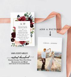 Greenery wedding invites Affordable Wedding Invitations