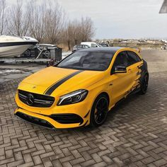 Congratulations with you super sick amg and what are you having this car delivered beautiful again! Mercedes Hatchback, Mercedes A45 Amg, Mercedes Benz Cars, Car Iphone Wallpaper, Car Wallpapers, Gaming Wallpapers, Daimler Ag, Car Wrap, Fast Cars