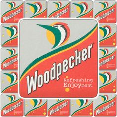 5 Woodpecker Cider Beer Mats (UK) / Coasters / Beermats - Mill's Breweriana & Collectables eBay Store