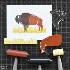 Andrea Lauren Design - Block Prints Linocut Prints, Art Prints, Block Prints, Woodcut Art, Andrea Lauren, Stamp Carving, Print Artist, Fabric Painting, Art Lessons
