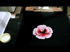 Como pintar una rosa en doble carga Sonia R.A. - YouTube Pincel Angular, One Stroke Painting, Donna Dewberry, Acrylics, Manicure, Paper Crafts, Make It Yourself, Youtube, Pen And Wash