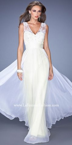 edressme.com Double V Lace and Sheer Illusion Prom Dresses by La Femme-image