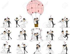 Image result for cartoon wedding vector
