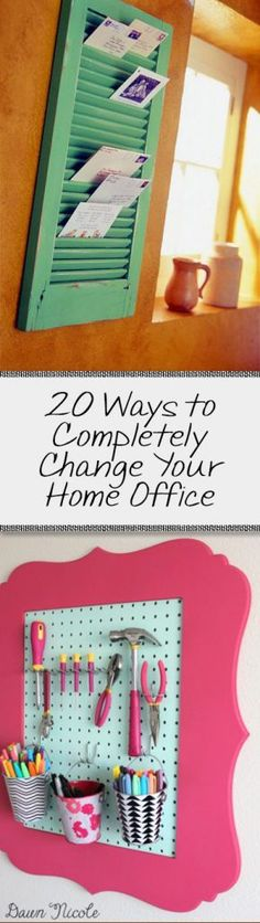 20 Ways to Completely Change your Home Office - Organization Junkie