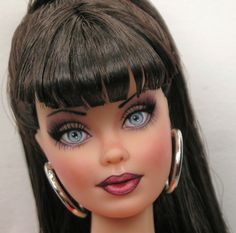 """""""Lexie""""  One of a Kind Barbie Basics Black Label Collection doll """"Model NO.3""""  OOAK Custom Hand-Painted Doll Art  By Artist Pamela Reasor"""