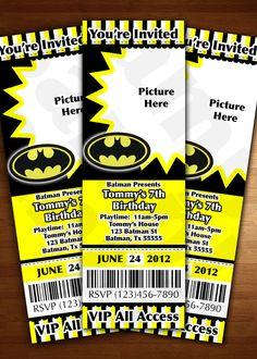 Batman Comic Book Style Superhero Newspaper Birthday Party Or Baby Shower Printable Invitation