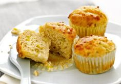 A delicious recipe for leek and cheddar muffins that your kids will love. These are great straight from the freezer - take them out in the morning, throw them in the lunch-box and they're defrosted by lunch-time. Muffin Recipes, Snack Recipes, Snacks, Easy Meals For Kids, Kids Meals, Kids Picnic Foods, Zucchini, Childrens Meals, Savory Muffins