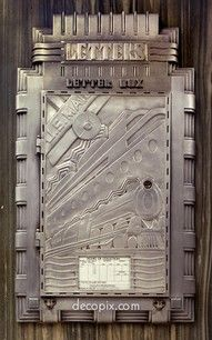 Letter box in Art Deco building