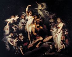 """Titania and Bottom"" by Henry Fuseli, 1790.  From ""Do you believe in fairies? Do I believe in fairies?!"" by Carolyn Emerick. www.carolynemerick.com"