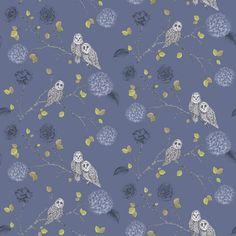 Night Owl Midnight Blue wallpaper by Arthouse