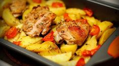 Roast Pork and Potatoes ⋆ Recipes with photos Yogurt Chicken, Oven Chicken, Chicken Potatoes, Baked Chicken, Baked Potatoes, Baked Potato Recipes, Garlic Recipes, Chicken Recipes, Recipe Chicken