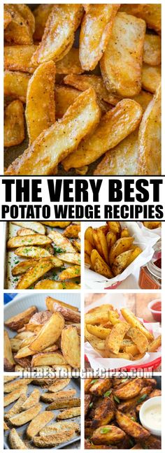You are going to go crazy for The Best Potato Wedge Recipes! They are so delicious and make the perfect addition to any lunch or dinner! via @bestblogrecipes