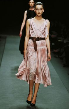 How do you choose just one favorite Prada collection when each has expanded the fashion conversation? I'm partial to the fall shows, and if forced to choose will pick fall 2002 for the furs, sequins, and prettiest pleated dresses. –Laird Borrelli-Persson, Vogue.com Archive Editor - Photo: Courtesy of Prada