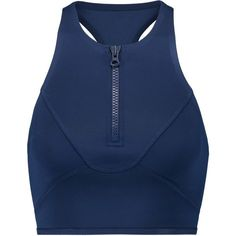 Adidas by Stella McCartney Neoprene sports bra (€53) ❤ liked on Polyvore featuring activewear, sports bras, storm blue, adidas sportswear, racer back sports bra, adidas, adidas activewear and zip sports bra