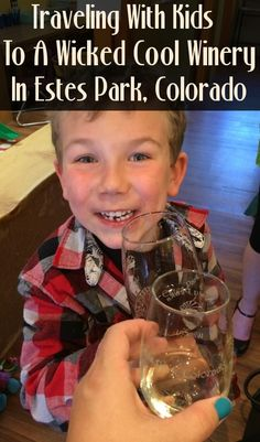 Wine tasting in Colorado - with kids?! Sample juice and wine together at a family-friendly winery in Estes Park - Pure Wander Magazine, photo by Shauna Armitage
