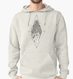 Geometric Crow in a diamond (tattoo style- Black and White version) by #Beatrizxe   #Redbubble #hoody #shirt #tee Illustration of a crow which is breaking in small geometric pieces. It is inside of a diamond. #Illustration #artwork #art #creative #drawing #draw #inspiration #ink #design #tattoo #creativity #crow #raven #geometric #diamond #circle #vintage #artsy #animal #nature #bird #dark #rhomb #rhombus #sketch
