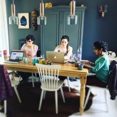 #cohoming du jour chez Gina et Damien de @idile_magazine ! #coworking #viedefree