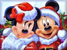 Mickey And Minnie Christmas Clipart - Clipart Suggest Mickey Mouse Cartoon, Mickey Minnie Mouse, Natal Do Mickey Mouse, Cartoon Disney, Mickey Mouse Christmas, Disney Mickey, Christmas Hat, Merry Christmas, Deco Disney