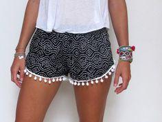 pom pom shorts--- LOVE.