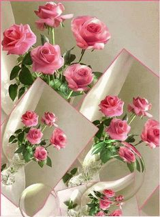Discover & share this Animated GIF with everyone you know. GIPHY is how you search, share, discover, and create GIFs. Flowers Gif, Pretty Flowers, Beautiful Gif, Beautiful Roses, Gif Animé, Animated Gif, Gif Bonito, Birthday Wishes, Happy Birthday